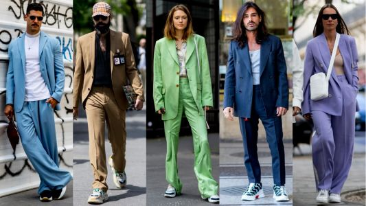 Suits With Sneakers Was the Outfit of Choice at Paris Fashion Week Men's