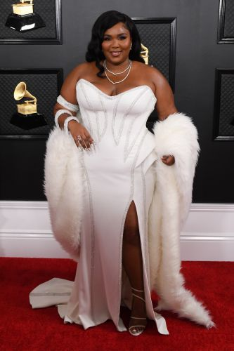 Lizzo Looks ~Good as Hell~ in a White Dress at the 2020 Grammys