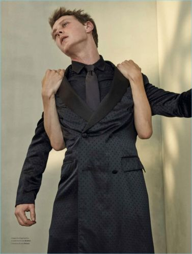 George MacKay Dons Tailoring for L'Officiel Hommes Italia