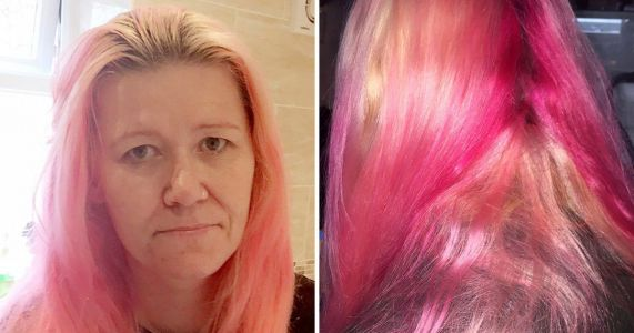Mum accidentally dyes her hair pink after using what she thought was her daughter's conditioner