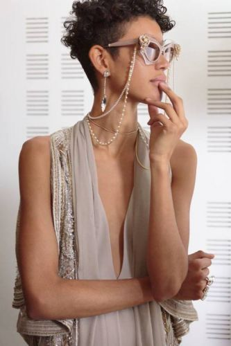 Couture eyewear gets its own embellishments with strings of
