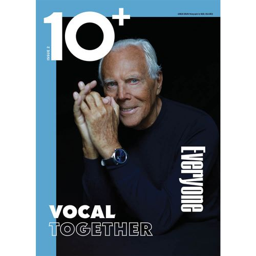 From Issue Two of 10+: Master of the House, Giorgio Armani