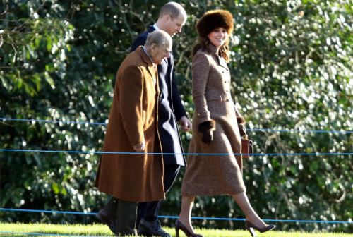 Kate Middleton Pairs Coat With Fur Accessories For Church
