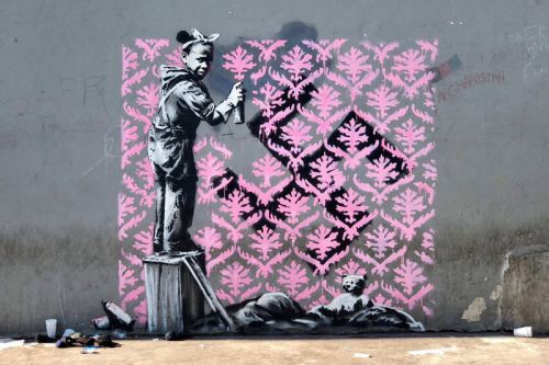 New Banksy Murals Spotted During Paris Fashion Week