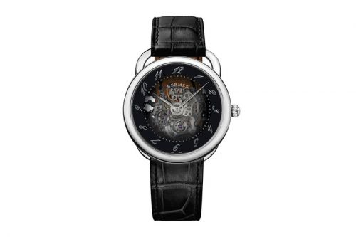 Hermès Revisits its Arceau With a Smoked Dial and Skeletonized Design