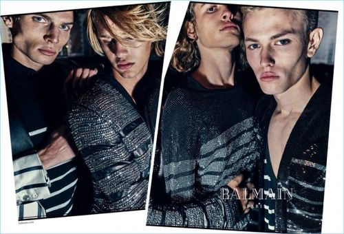 Olivier Rousteing Snaps Fresh Faces for Balmain Spring '18 Campaign