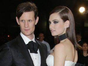 Lily James Sparks Matt Smith Engagement Rumours At The BAFTAs