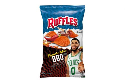 Jayson Tatum Debuts His Ruffles Flamin' Hot BBQ Chip Flavor