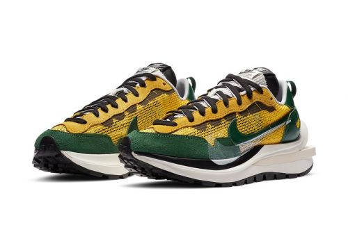 "Official Look at the sacai x Nike Vaporwaffle ""Tour Yellow"""