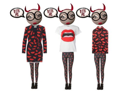 The Lips I Love 1 = Saint Laurent, ROMWE, and Delfina Delettrez