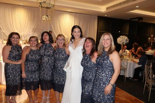 A wedding to remember: Six wedding guests turn up in the same lace dress