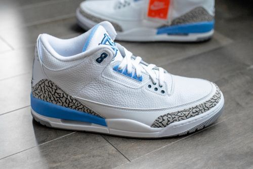 """Take a Detailed Look at the Friends & Family Air Jordan 3 """"UNC"""""""