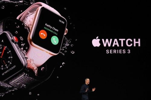Apple Unveils Apple Watch Series 3 With Cellular Connectivity