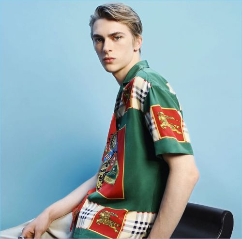 Dominik Sadoch Models Retro-Inspired Prints + More for Matches Fashion
