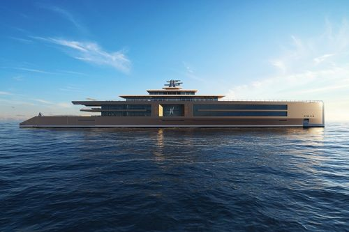 "Sinot Presents a 120 Meter-long ""Nature"" Yacht Concept"
