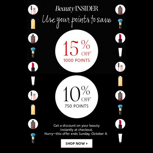Sephora: Get 10% or 15% Off with Points