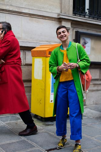 On the Street.Colorful, Paris