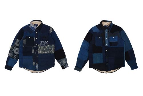 Visvim Drops Indigo & Kerchief Kofu Down Jacket for FW19