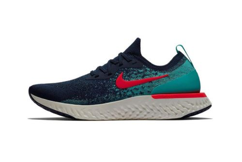 "Nike Epic React Flyknit Gets a Bold ""College Navy/Jade"" Colorway"