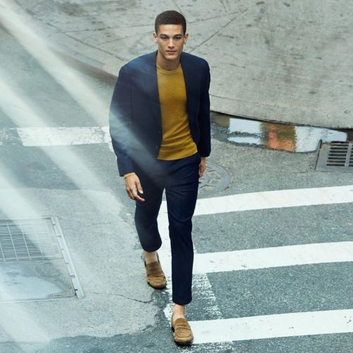 Marco Pickett Cleans Up in Sleek Fashions by Banana Republic