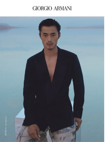 Zhao Lei & Maxime Daunay Are Dashing for Giorgio Armani Spring '19 Campaign