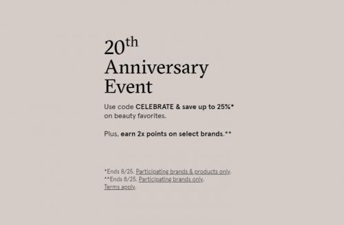 DermStore | Up to 25% Off Now through August 25th