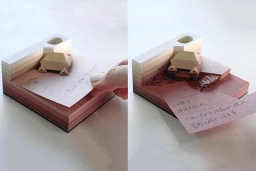 These Japanese Notepads Hide 3D Buildings Inside