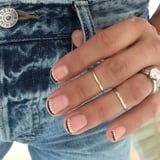 """""""French Moon"""" Nail Art is the Dark New Twist on the Classic French Manicure"""