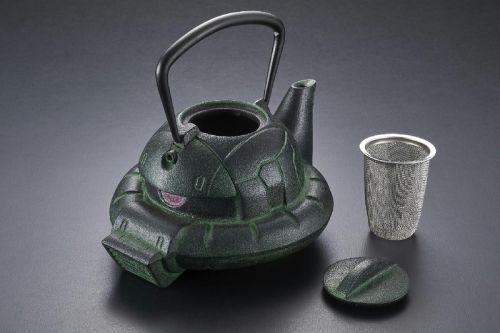 Premium Bandai Crafts a Traditional Nanbu Tekki 'Gundam' ZAKU Iron Kettle