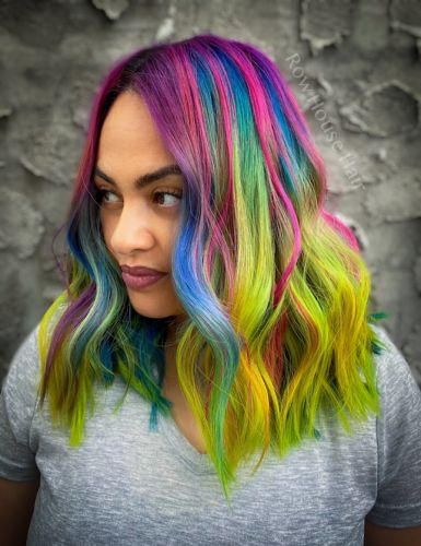 Watch How to Create This Vivid Rainbow Color Melt