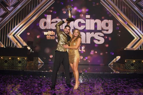 The 'DWTS' Mirror Ball Trophy Is Alan Bersten and Hannah Brown's Baby - His Hilarious Videos Prove It