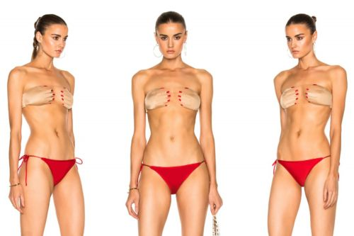 This bikini makes it look like you're giving yourself a hand