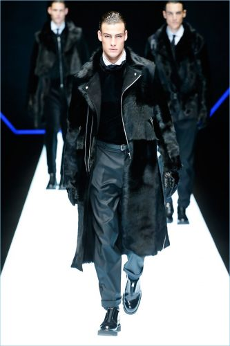 Emporio Armani Delivers Dark Urban Style for Fall '18 Collection