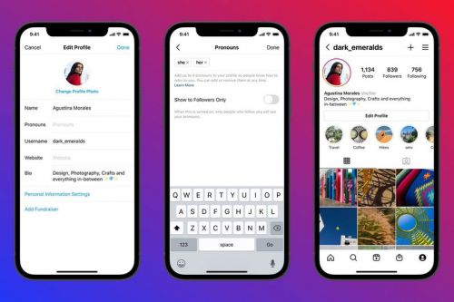 Instagram Adds New Pronouns Feature To User Profiles
