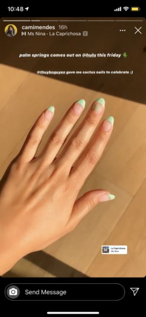 """Camila Mendes Got These Cute """"Cactus Nails"""" to Celebrate Her New Movie"""