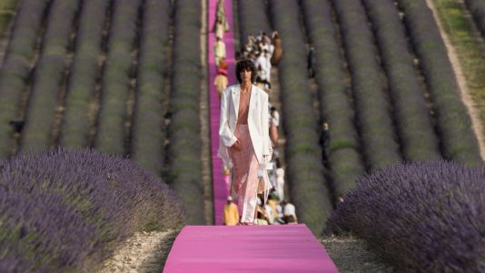 Don't Miss the Photos From This Beautiful Jacquemus Show in a Lavender Field