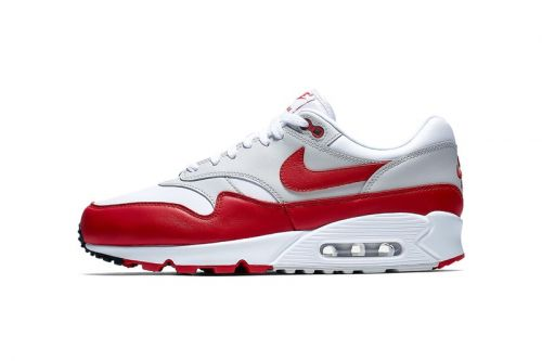 This Nike Air Max 1 x 90 Hybrid Tastefully Blends White & Red