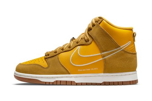 """Nike Dunk High """"First Use"""" Pack Expands With a """"University Gold"""" Colorway"""