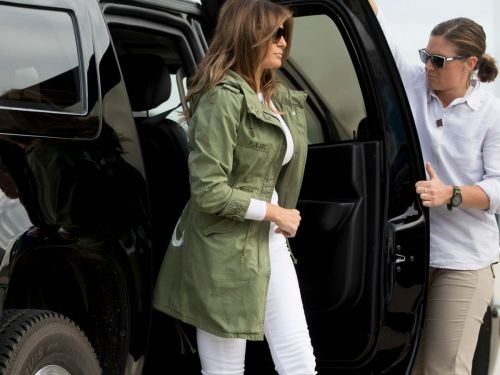 For A Silent First Lady, Melania Trump's Jacket Sends A Clear Message